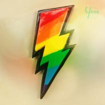Justice Thunderbolt Magnet