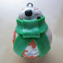 "BB-8 Ornament Commission - 7cm / 3"" Tall"