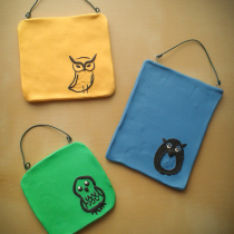 Mini Wall Hanging Owl Triptych