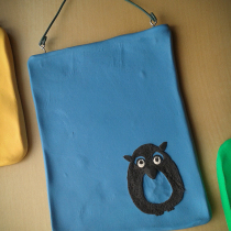 Blue Owl Mini Wall Hanging