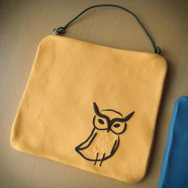 Yellow Owl Mini Wall Hanging