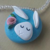 White Bunny Pendant