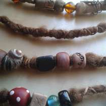 Hair Extensions with Beads