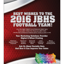 JBHS 2016 Football Book Ad